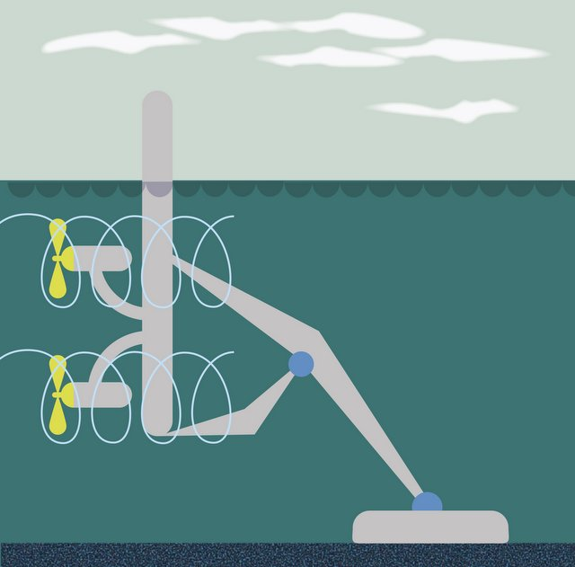 Illustration of one type of tidal energy (Photo: GettyImages)
