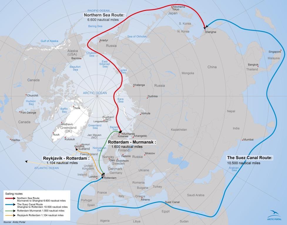 portletsarcticportalorg  Panama and Suez Canal Routes