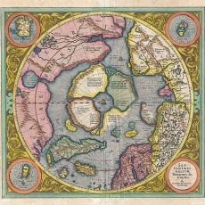First Map of the North Pole, Mercator Hondius,  Geographicus 1606 (source: wikipedia.org)