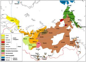 Indigenous people in Russia - Click the map to enlarge [url=http://ansipra.npolar.no/english/Index.html](Map from Ansipra)[/url].npolar.no