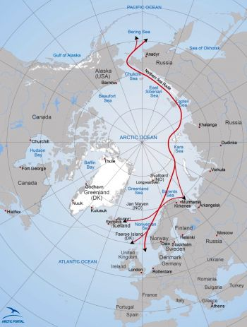 Northern Sea Route (Map: Arctic Portal)