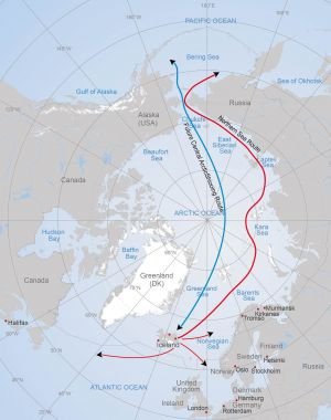 (Map: Arctic Portal) Possible sailing destinations from Northern Iceland